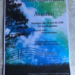 Friluftsgudstjänst i Åvestbo